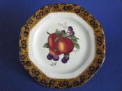 Maling 'Plum and Orchard' Pattern 3948 Octagonal Plate c1929 #2